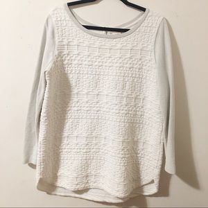 Merona | White and gray Top  | XL